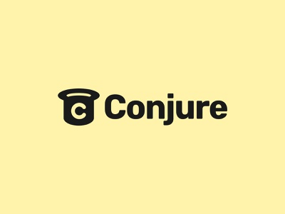 Conjure logo logo post it notes collaboration brainstorming brand identity