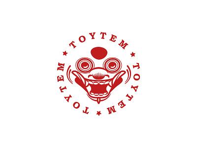 The Toytem Vinyl toys logo old school badge vintage stamp mask thailand dragon brand identity branding logo vinyl toy toys