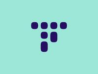 Traackr blue logo icon by felice della gatta