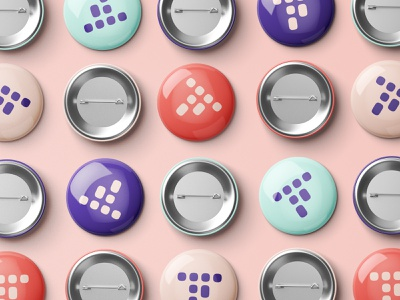 Traackr Logo Button Pins vibrant brand identity branding and identity branding icon logo merch button badge pin