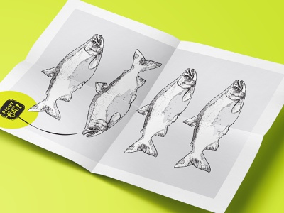 Fight The Tide! Poster design quotes quote motivational motivation minimalism minimal fish salmon illustration poster