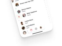 Contact App • Floating bottom navigation