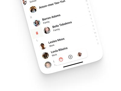 Contact App • Floating bottom navigation bottom nav floating navigation network contact app interface ui ux