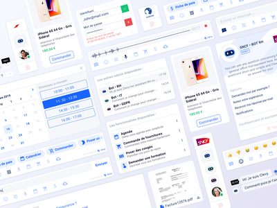 Clevy • Chatbot component clevy startup design system component chatbot web app app design interface ux ui