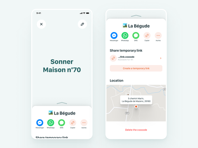 coooode • access information access location sharing code design app interface ui ux