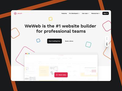 WeWeb • Home branding design ui ux website builder website weweb web landing page