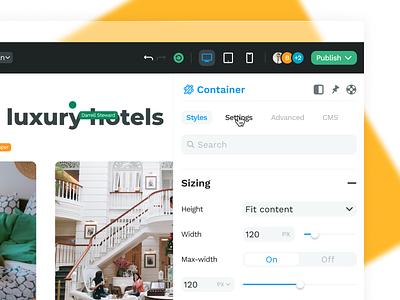 WeWeb • Collaboration builder weweb setting collaboration startup web app design interface ux ui