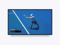 Tennis Scoring Concept Tv