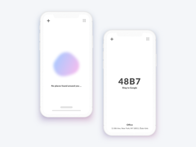 Keypop blur minimal white memory digicode ui ux ios app