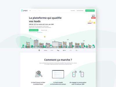 Landing page Pinpo