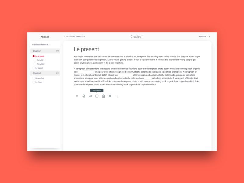 Alliance - e-learning document edition