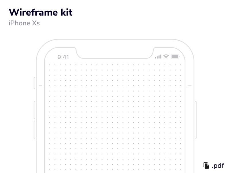 Wireframe Kit - iPhone XS