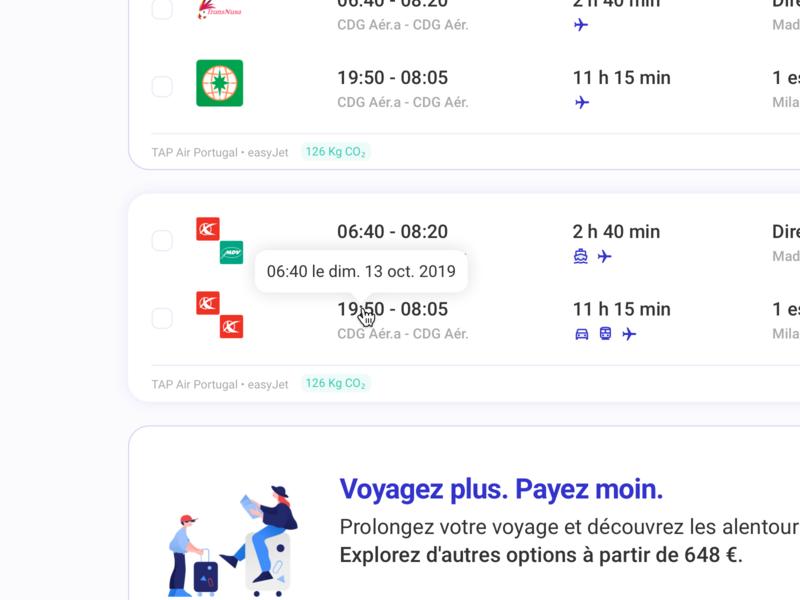 Combigo • Flight ticket details