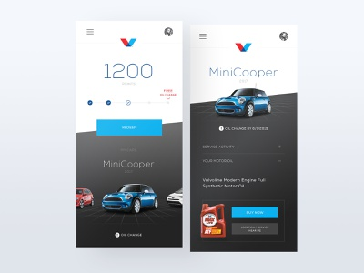 Valvoline - Gamification App interaction user interface ux ui graphic design mobile app