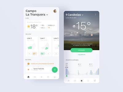 Mi Campo - App ux ui design ui product design mobile interface dashboard weather farm app