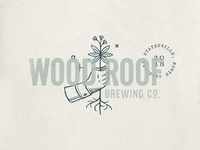 Wood Roof Bewing Co., Primary Logo