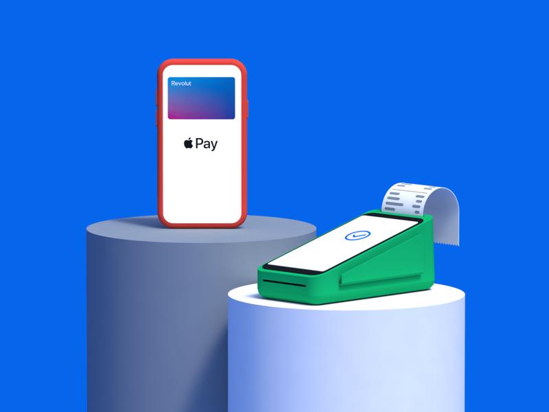Apple Pay with Revolut 3d render terminal phone finance app credit card bank card mobile render google pay apple pay finance app cinema 4d illustration c4d 3d revolut