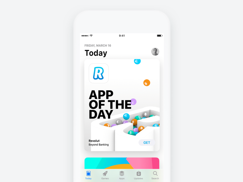 Revolut. App Of The Day banking illustration cover design cover visual design design app cinema 4d c4d 3d app store revolut