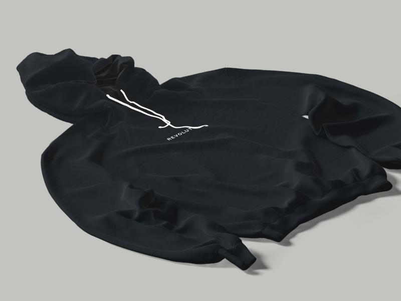 Revolut Hoodie hoodie typography type design print merchant merch design merch marketing fashion brending brutalism revolut