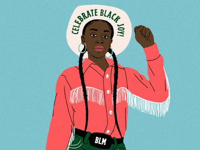 Juneteenth fringe braids juneteenth black power cowgirl texas yeehaw blm