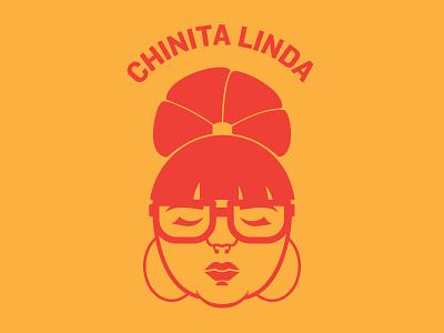 Chinita Linda Logo woman logo latina
