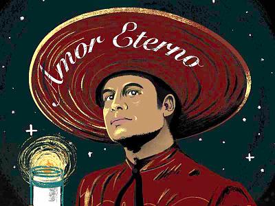 Amor Eterno mariachi candle love amor day of the dead mexican juan gabriel dia de los muertos