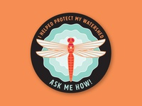 I Helped Protect My Watershed Sticker