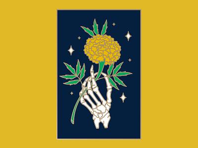Cempasuchitl cempasuchitl stars flower marigold skeleton diadelosmuertos