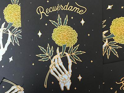 Cempasuchitl Print latinx mexico remember life death stars ofrenda díademuertos diadelosmuertos skeleton marigold cempasuchtl