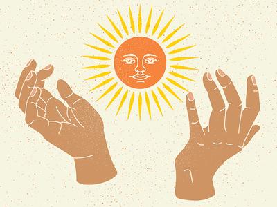 Luz light energy latinx brown hands sun