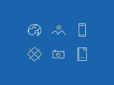 Desara Icons outline line blue icons icon