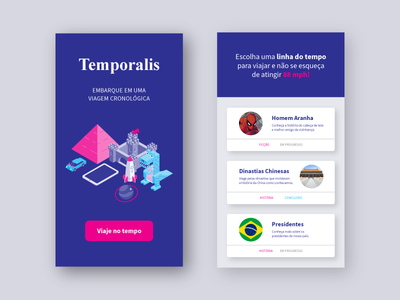 Temporalis design interface mobile ux ui