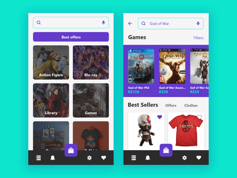 Mimonerd Store geek nav menu store shop ux interface design app ui