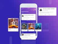 Mobile CMS App UI | Dashboard