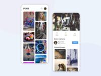 Pixo | Stock Photo Mobile App UI