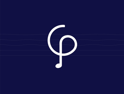 CP (Cirtdan pro) musicial note music art music player double music musician illustration vector logo