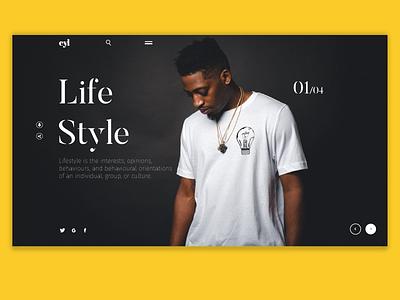 Life Style yellow life style ux ui web