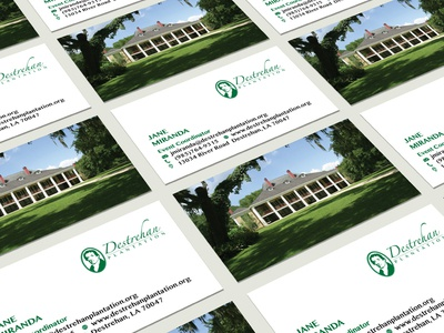 Business Card Design for Destrehan Plantation