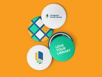Logo Button Design for a Library