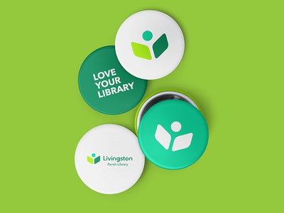 Library Logo Buttons swag learning library logo library logos logo branding button