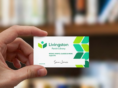 Library Card Design card brand identity branding logo library card library