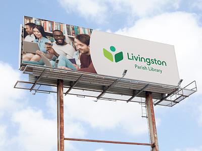 Billboard for Local Library library logo library branding logos advertising billboard