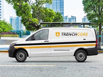 Van Mockup for Construction Company logo digital design graphic design branding brand identity