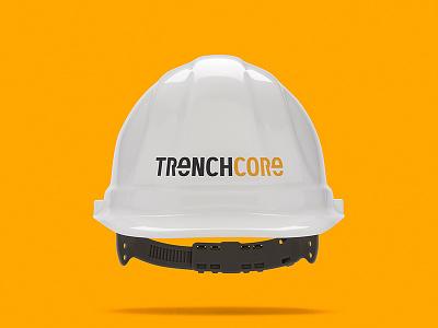 Hard Hat Mockup for Construction Company branding brand identity logo design logo hard hat
