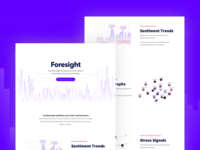 foresight homepage design
