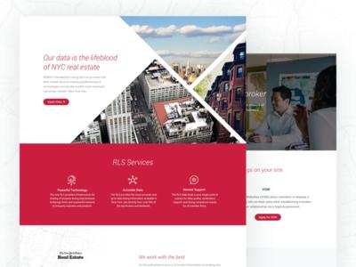 REBNY Landing Page web ux ui minimal landing page elegant design clean ui