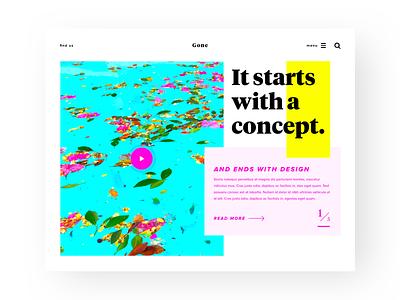 Design UI Concept colorful prototype card grid ui layout design