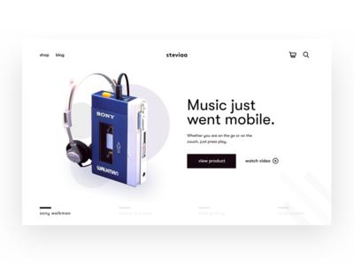 Retro series in the modern era concept music ecommerce web typography black  white interface elegant product design clean ui clean design ux minimal ui