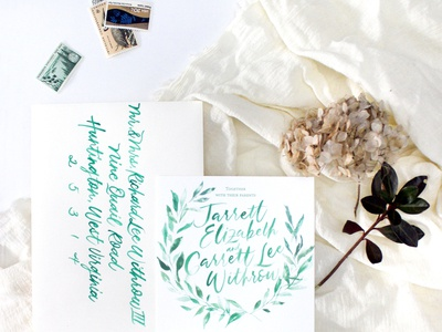 Kelly Green Brush Lettering