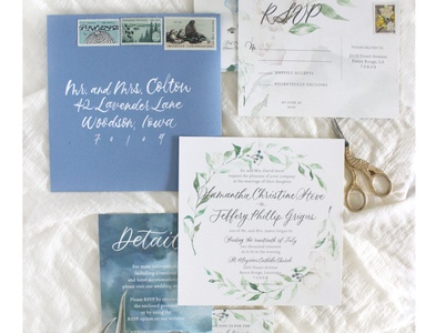 Soft Watercolor Floral Invitations